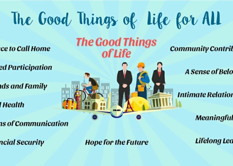 A graphic listing some of the good things of life.
